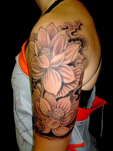 Lotus flower tattoos, flower tattoo