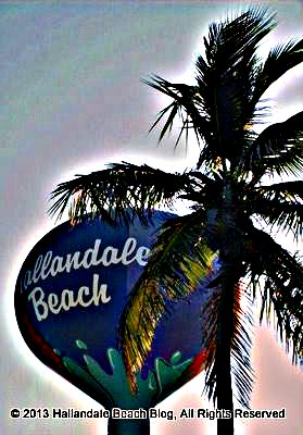 Variation of my own photo of Hallandale Beach Water Tower on North Beach