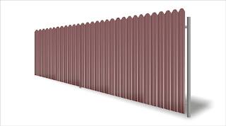 Забор из фигурного профлиста (резная кромка). Фото 23