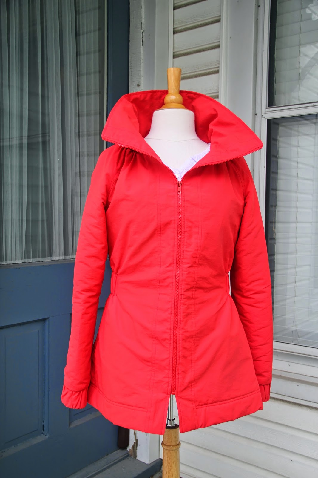 Minoru jacket open collar front view