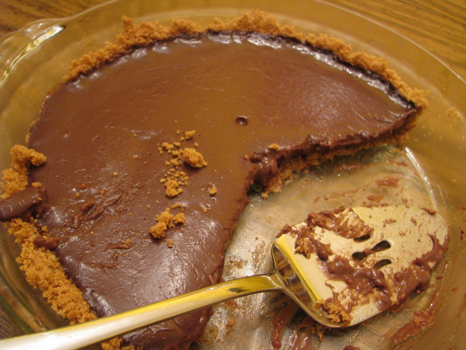 scratch-made wife: Double Chocolate Pudding Pie