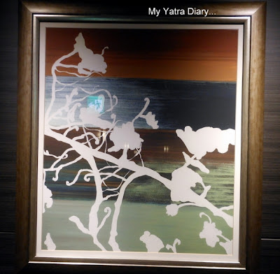 Japanese art in the room at New Miyako hotel in Kyoto - Japan