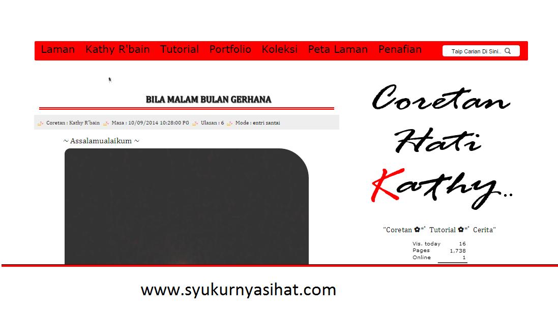 Top Komentator Blog Syukurnya Sihat September 2014