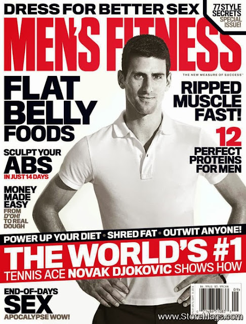 Novak Djokovic in Men's Fitness September 2013
