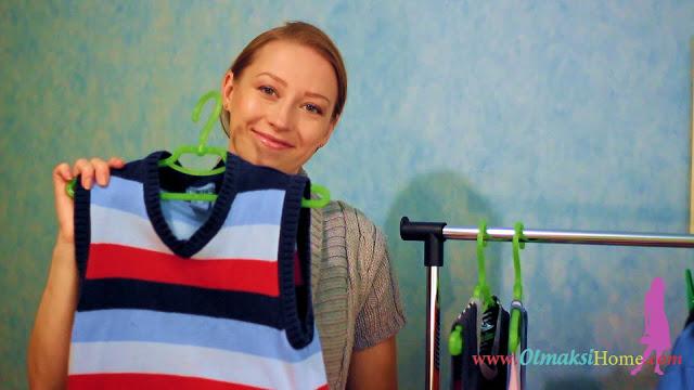 как быстро повесить одежду