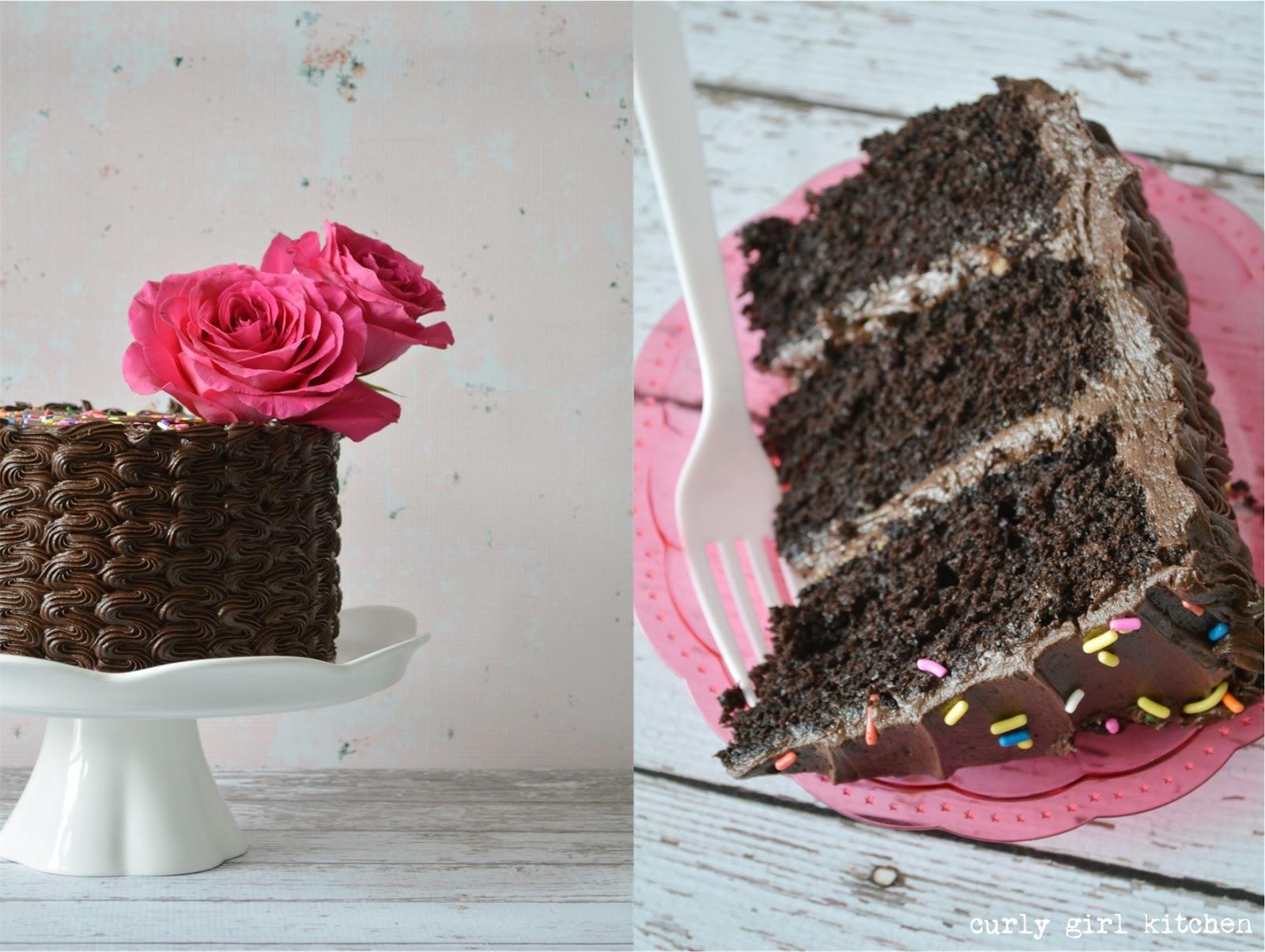 Curly Girl Kitchen: Dark Chocolate Chocolate Cake