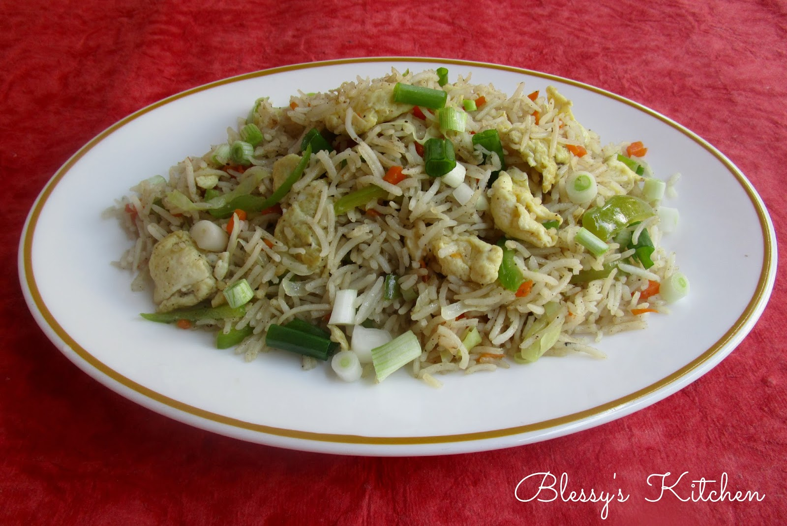 Blessys kitchen egg fried rice egg fried rice is a quick and easy recipe one can make the fried rice with left over rice important things to be noted when making fried rice is to have ccuart Choice Image
