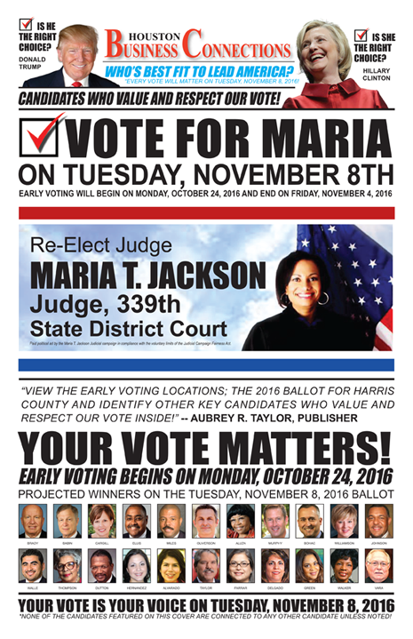 JUDGE MARIA T. JACKSON VALUES OUR VOTE, SUPPORT AND COMMUNITY!
