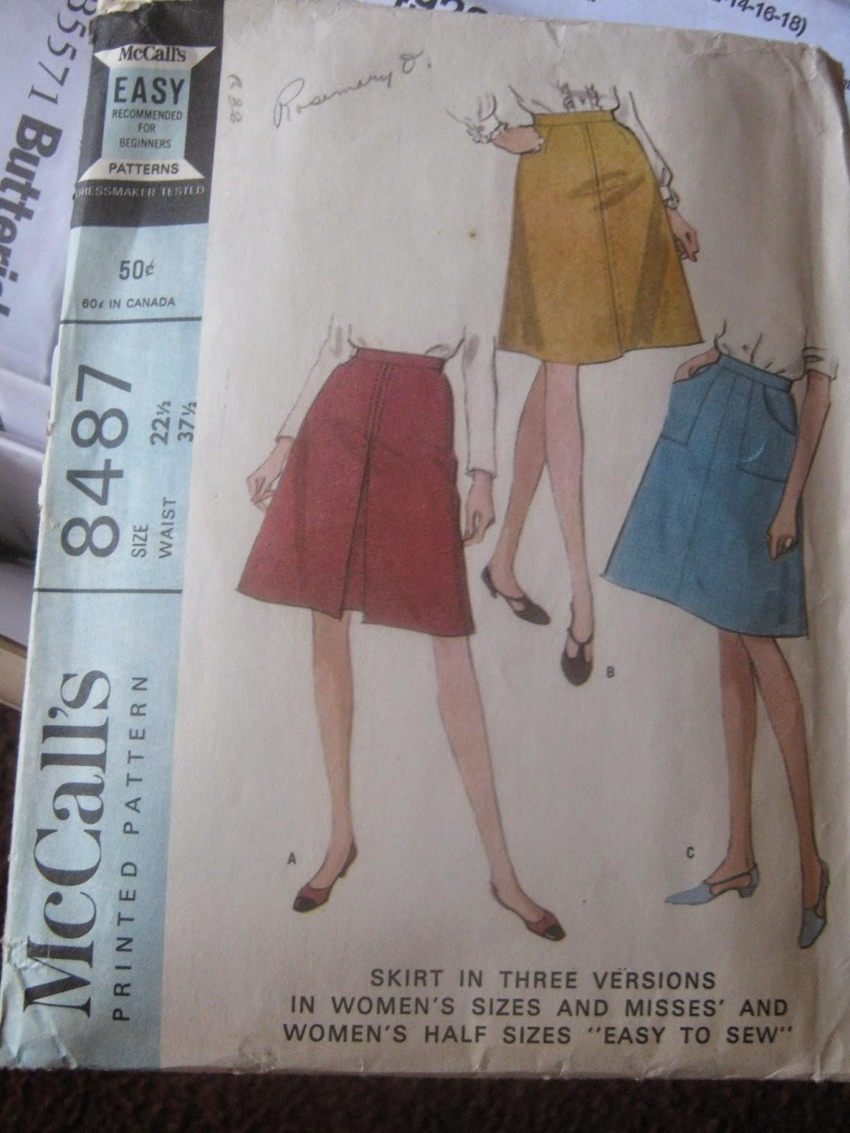 McCall's 8487 Skirt www.sewplus.blogspot.com