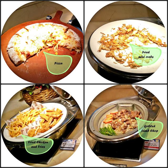 Pizza | Fried mini crabs | Chicken & Fries | Grilled lamb chop | www.meheartseoul.blogspot.com