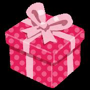プレゼントのイラスト「ピンクの箱とリボンのプレゼント」