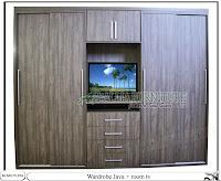 Lemari pakaian minimalis tv unit Java