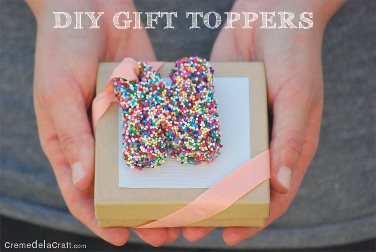 Diy letter gift toppers from sprinkles for Easy diy birthday gifts