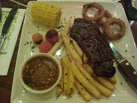 Chiquito Steak and Chips with Peppercorn Sauce