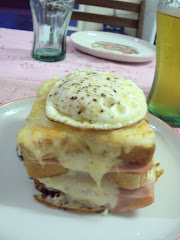 Um croque madame  minha moda...
