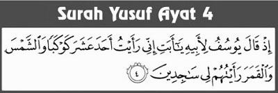 Doa Pengasihan Surat Yusuf Ayat 4 Paling Mustajab