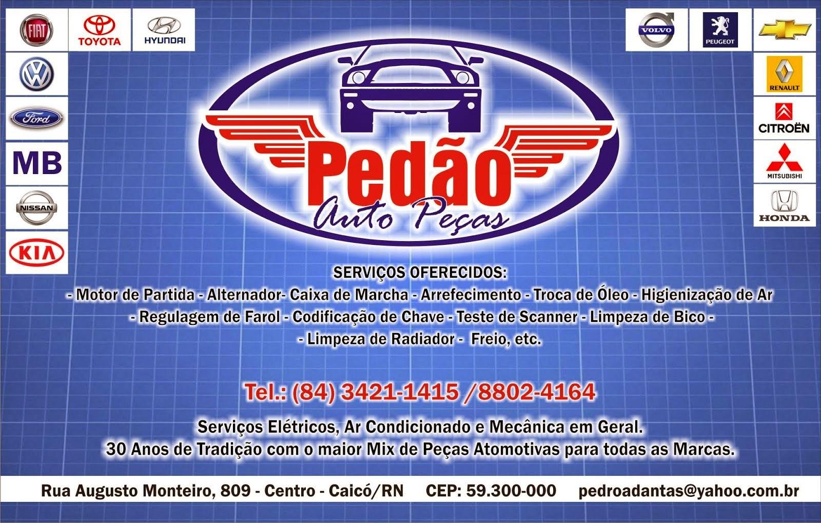 Pedão Auto Peças - Tudo em serviços e peças para seu carro - 34211415 / 88024164