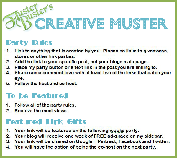Fluster's #CreativeMuster Linky Party #65