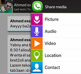 OpenWhatsApp Messenger for BlackBerry spacytrinity image