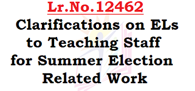 Clarifications on ELs, Teaching Staff, Summer Election Work