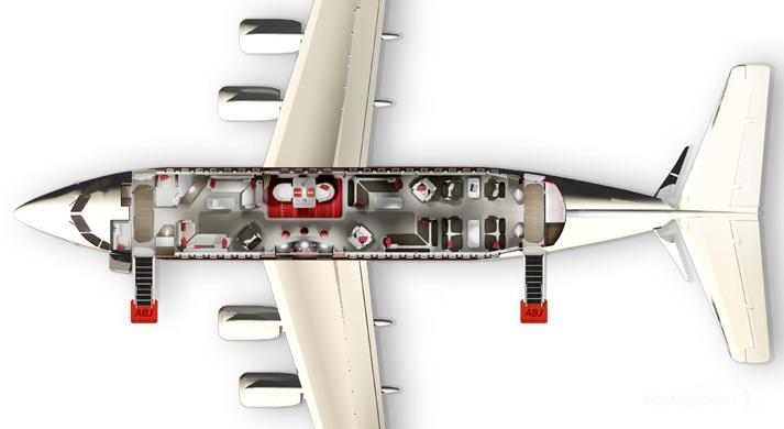 aeronaves ABJ conceito de Fusão