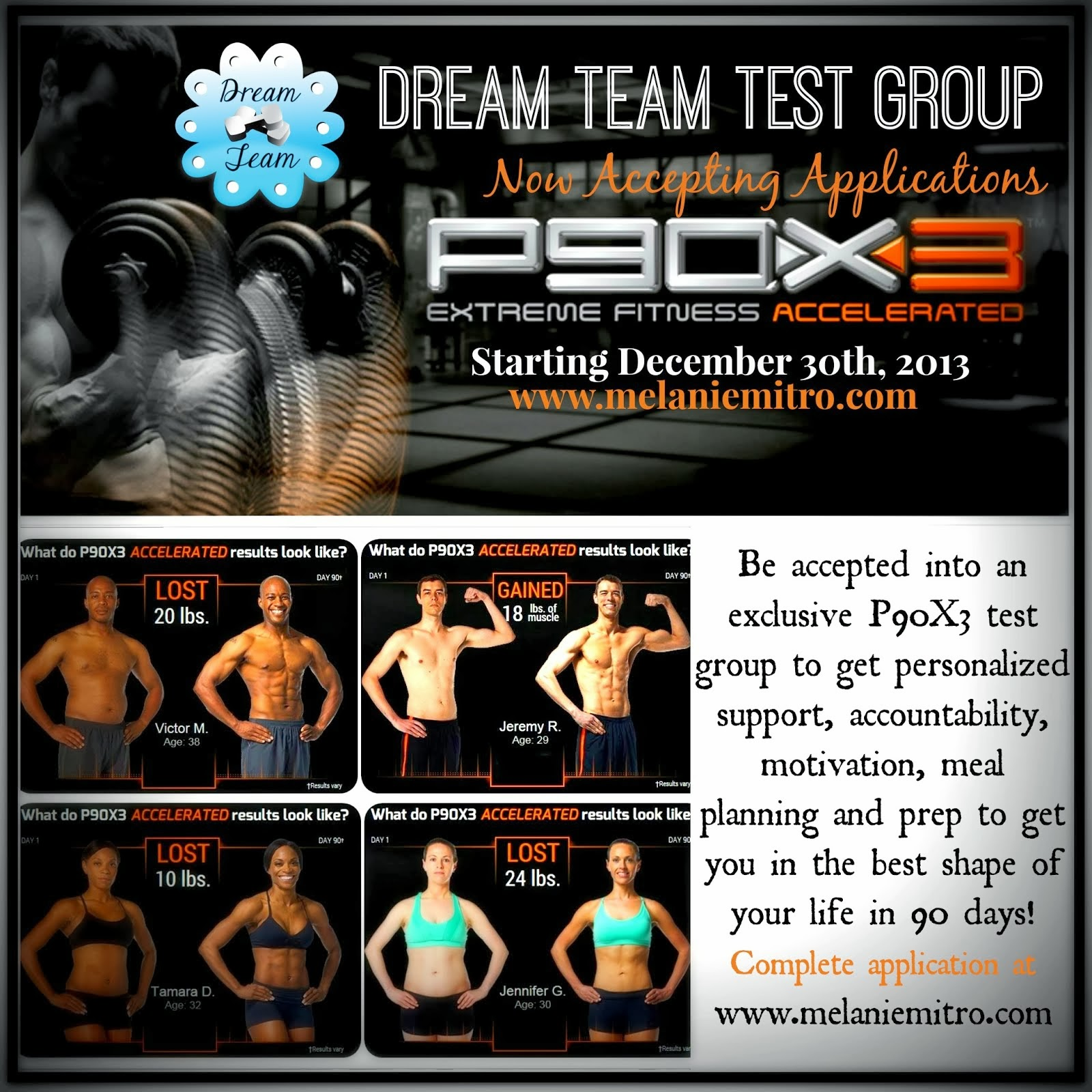 P90X3 Test Group