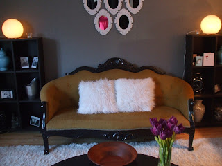 antique settee with designer twist!