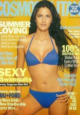 Katrina Kaif swimsuit magazine cover photos