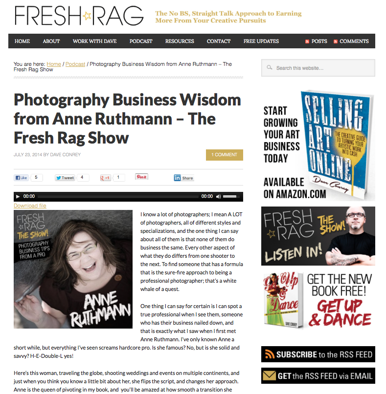 Fresh Rag Interview Anne Ruthmann