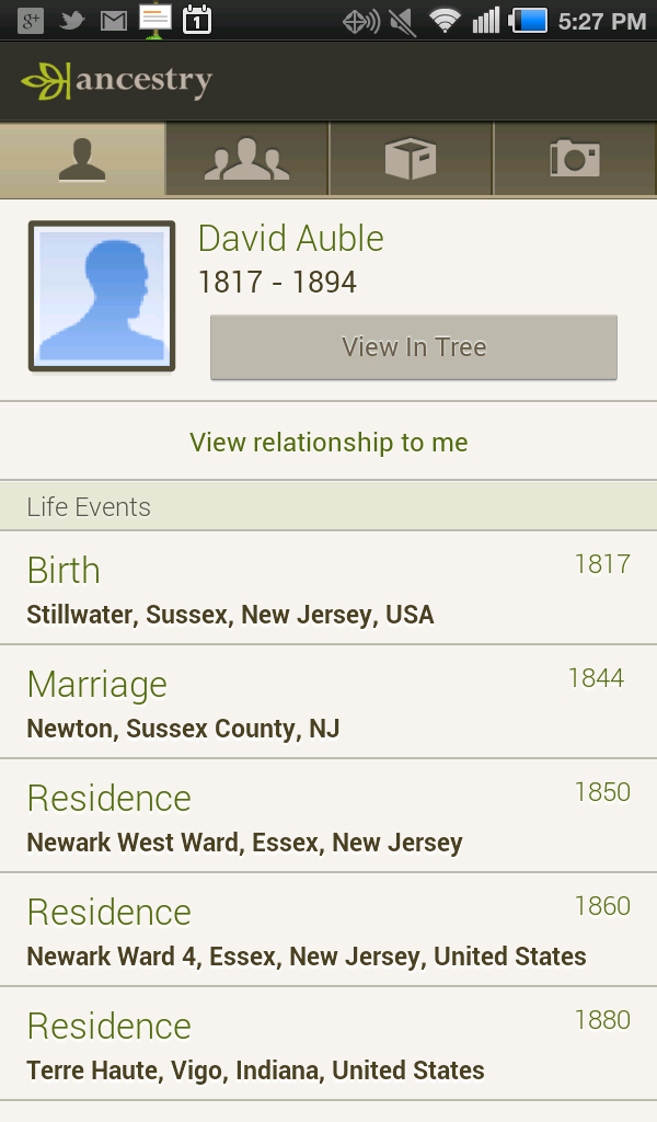 how to search on ancestry app