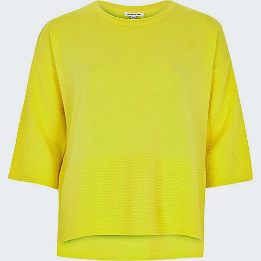 river island yellow jumper