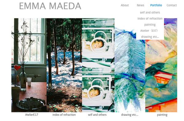 Emma Maeda portfolio web site