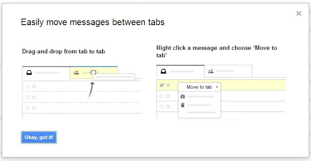 new gmail inbox tabbed view lets you drag and drop messages between different tabs