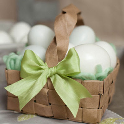 easter basket recycle grocery bag