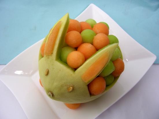 Tutorial para hacer un conejito de mel n mukimono for Secar frutas para decoracion