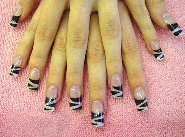 Excellent Black Acrylic Nail Designs 600 x 444 · 101 kB · jpeg