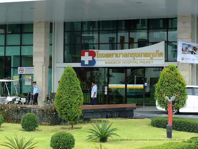 Entrance to Bangkok Hospital Phuket