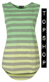 topshop striped tank