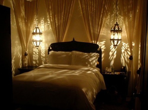 Substance of living romantic bedroom part 3 for Bedroom lights decor