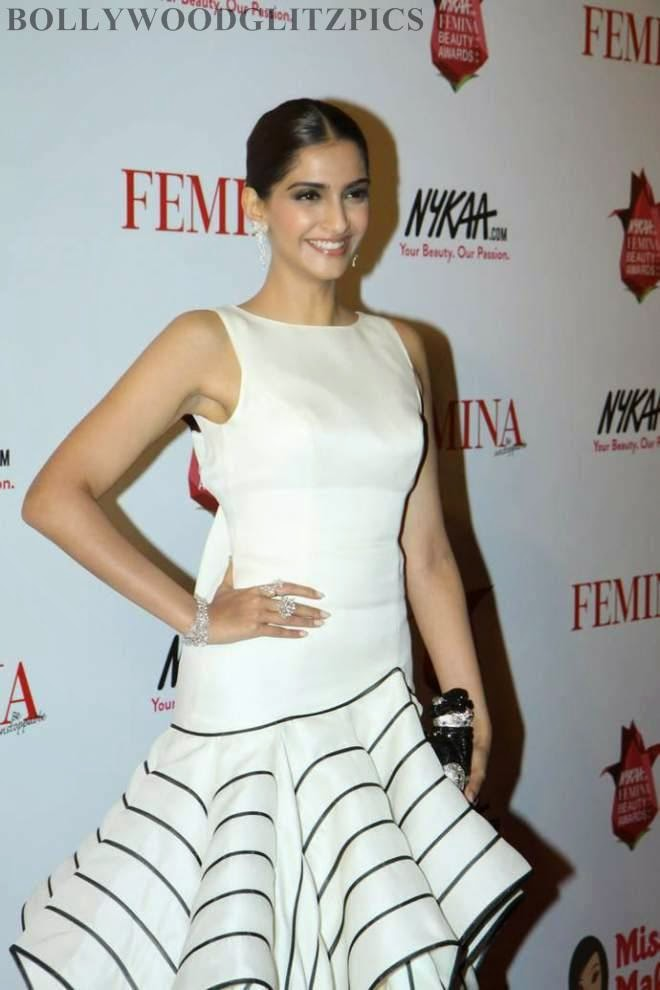 sonam kapoor white dress photos