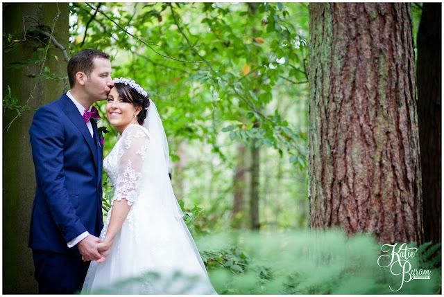 northumberland wedding, katie byram photography, woodland wedding