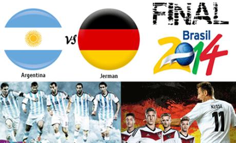 Hasil Final Piala Dunia 2014 Brasil Jerman vs Argentina