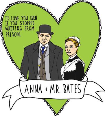 Joanne Froggatt, Brendan Coyle, Downton Abbey, Anna, Bates, Valentines,