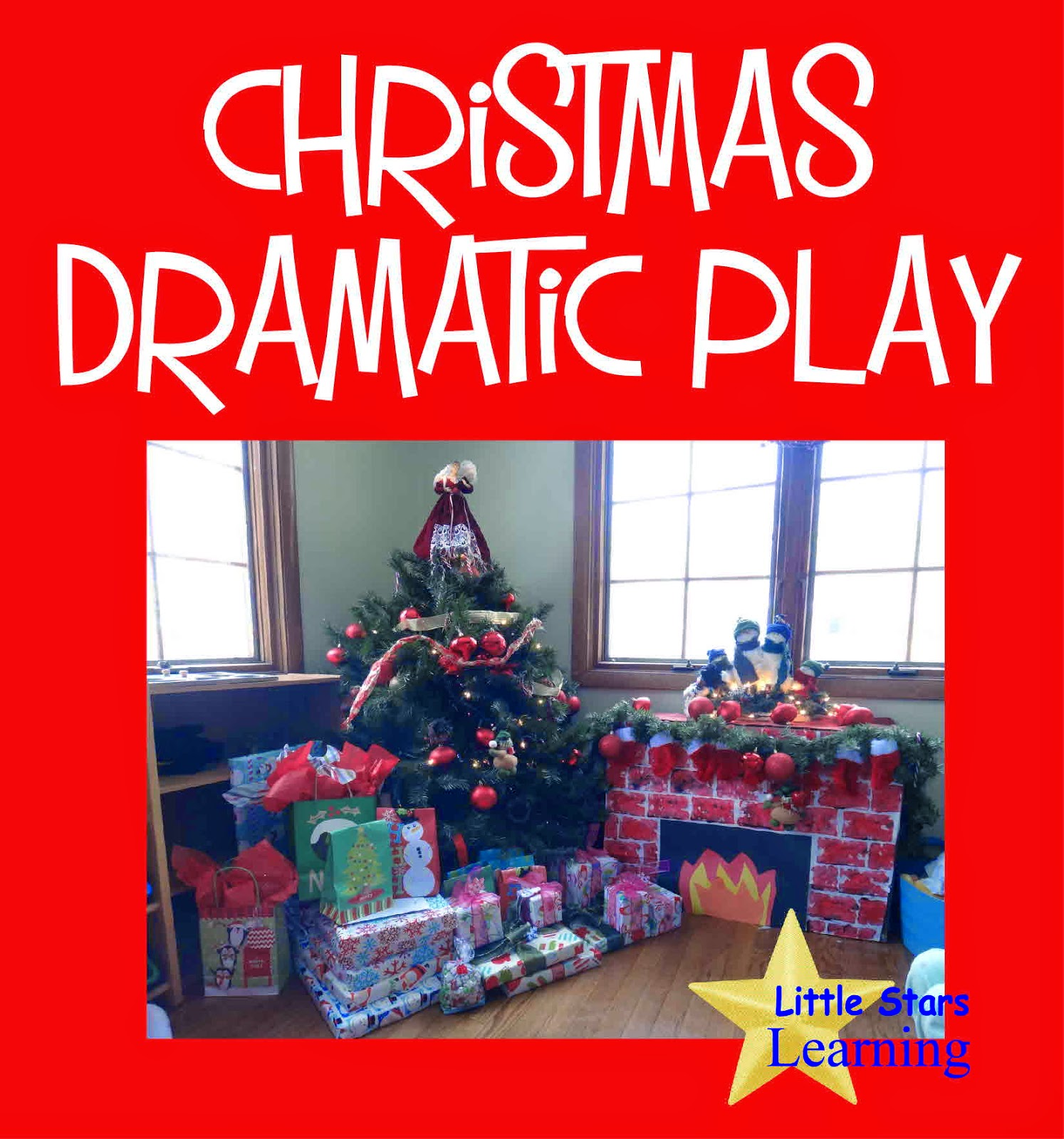 Little Stars Learning Christmas Dramatic Play