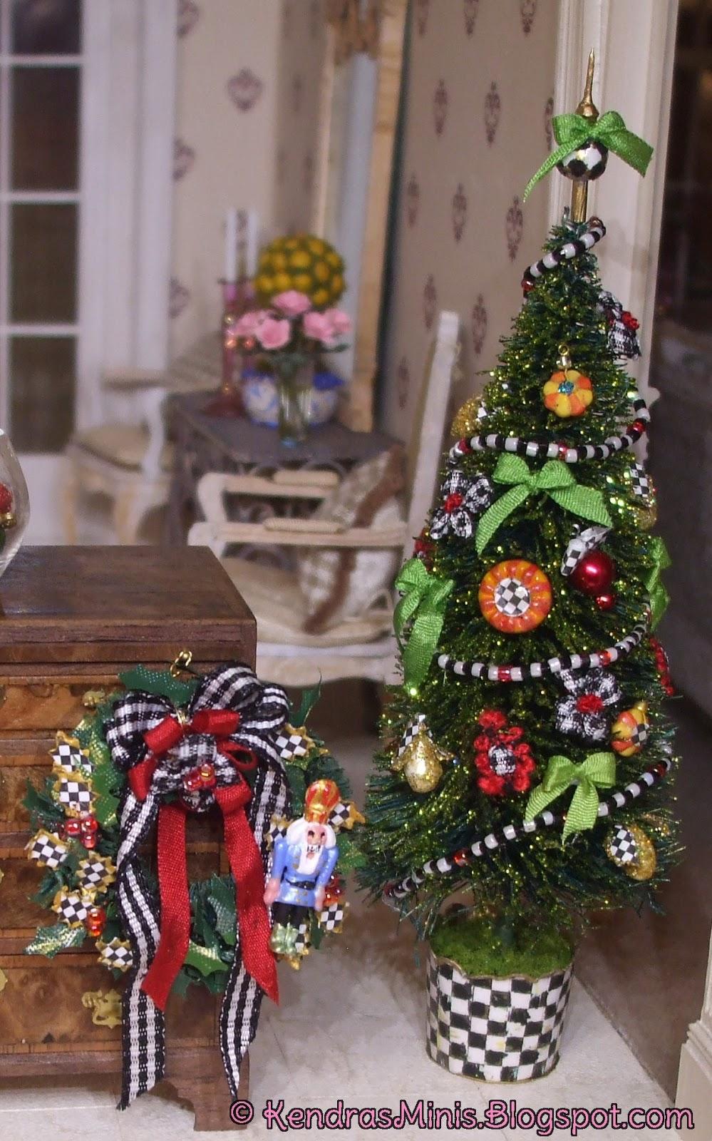 Kendra's Minis: Mackenzie-Childs Inspired Dollhouse Miniatures