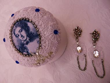 Porta-Jóias em Cerâmica Estilo Shabby Chic