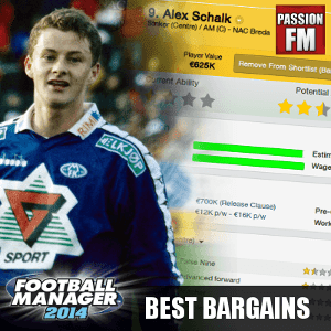 Football Manager 2014 Best Bargains and Cheap Players