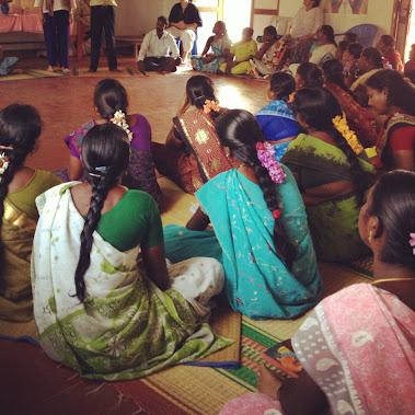 Women's workshop in Irumbai