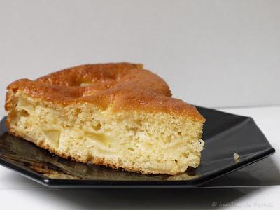 Gâteau aux pommes et au fromage blanc moelleux (voir ma recette)