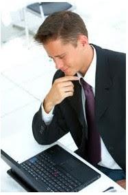 notebook computer, businessman